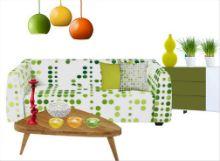 Frisches Wohnzimmer in Grün